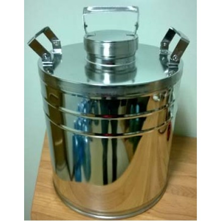 Бидон БДМ (фляга) для пищевых продуктов с герметичной  крышкой . 9 л, полированный