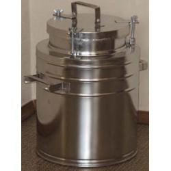 Бидон(фляга) для пищевых продуктов с герметичной  крышкой . 12 л, широкая горловина