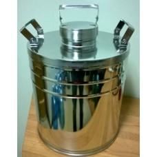 Бидон БДМ (фляга) для пищевых продуктов с герметичной  крышкой . 12 л, полированный
