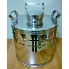 Бидон БДМ (фляга) для пищевых продуктов с герметичной  крышкой .18 л, полированный