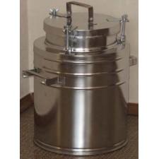 Бидон(фляга) для пищевых продуктов с герметичной  крышкой . 6 л, широкая горловина