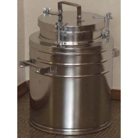Бидон(фляга) для пищевых продуктов с герметичной  крышкой . 9 л, широкая горловина