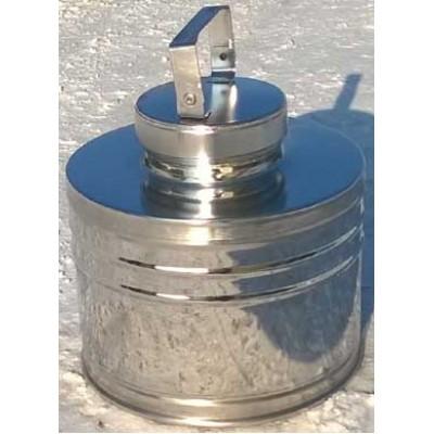 Бидон БДМ (фляга) для пищевых продуктов с герметичной  крышкой . 6 л, полированный