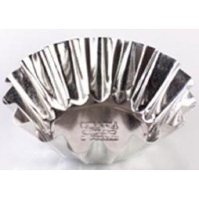 Форма для выпечки кекса, большая (белая жесть, d 95 мм/ h 31,5 мм, вес 22 гр.)