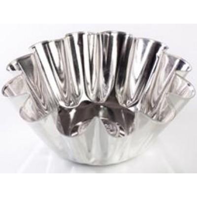 Форма для выпечки ромовой бабы, большая (белая жесть, d 130 мм/ h 54 мм, вес 50 гр.)