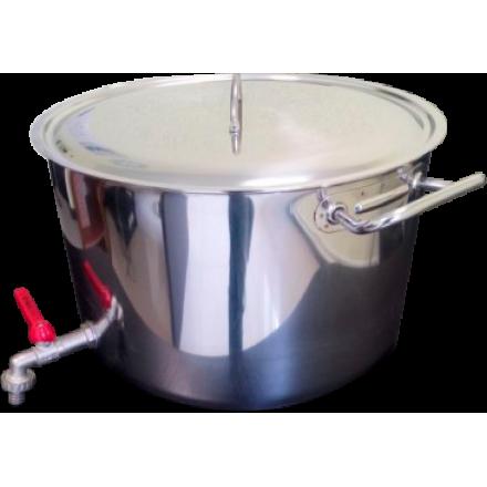 Бак для воды с краном и крышкой 30 л из нержавейки
